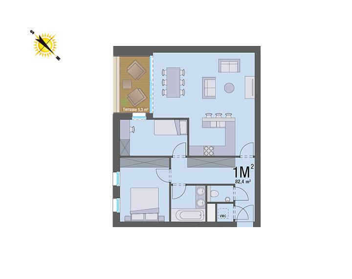 Appartement 1M