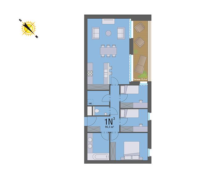 Appartement 1N