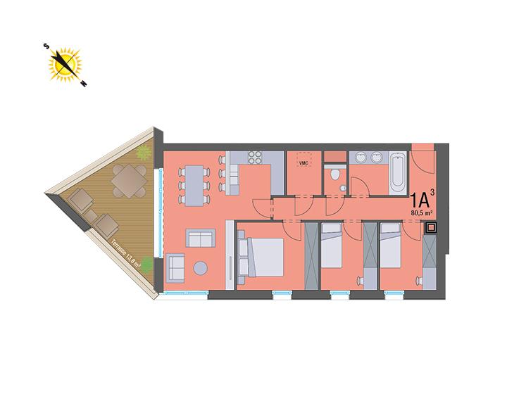 Appartement 1A