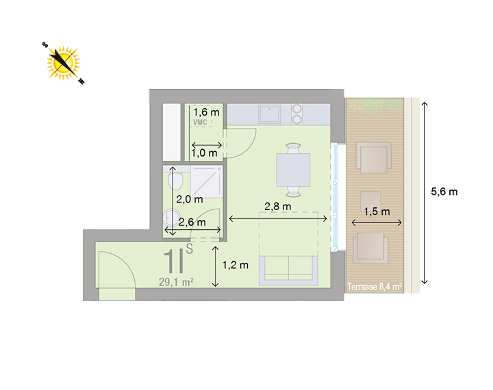 Appartement 1I - Mesures